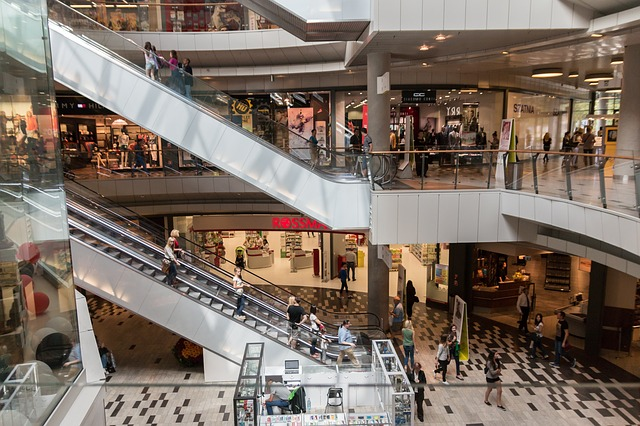 Centres commerciaux escalator